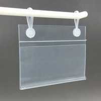 Wholesale Several Sizes PVC Plastic Price Tag Sign Label Display Holder With Buckles For Supermarket Shelf Stand Hook Rack