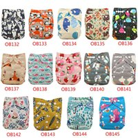 Wholesale Cloth Diapers Snap Inserts - Cloth Diaper Cover Adjustable Snap All in one Size Cloth Pocket Diapers for Newborn Baby Reusable Nappy Diaper + 1 Insert