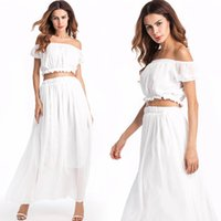 Wholesale Hubble Bubble Dress - Woman Clothes The New Summer Dresses Two-piece Hubble-bubble Sleeve Chiffon Dress Quality Cultivate One's Morality Leisure Beach Dress