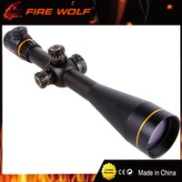 FIRE WOLF 5-15X50SF Optique d'or Riflescope Side Parallax Tactical Scopes de chasse Rifle Scope Mounts Pour Airsoft Sniper Rifle