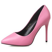 Wholesale Cheap Dresses Online Free Shipping - New Style Cheap Womens Dress Pumps Online Ladies High Heels Purchase Discount PU Shoes Designer Female Name Brand Outlet Shoe Free Shipping
