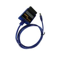 Wholesale Cable Usb Elm327 - Newest elm 327 V1.5 Code Reader ELM327 USB obd2 OBDII Interface Diagnostic Cables And Connectors