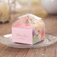 Wholesale Laser Cut Hollow Flower Wedding Gift Favor Holders Candy Box Chocolate Boxes