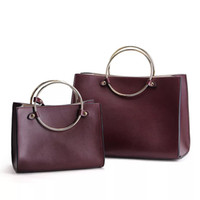 Wholesale Ladies Fashion Cross Ring - 2017 Classical Genuine Leather Cross-body bags Famous Brand Fashion Lady Shoulder Bag Ring Open Handbag vintage women bags