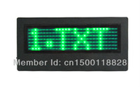 Wholesale Led Mini Badge - Mini Programmable Scrolling LED Name Message Advertising Tag Badge Green color 7*29 Pixels free software