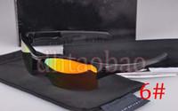 Wholesale Sunglasses Jackets - Moq=1Pcs High Quality Unisex Fashion Quarter Jacket Polarized Sunglasses Shade +Case Goggle Outdoor Cycling Dazzling 10 Colors Free Shipping