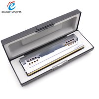 Wholesale Swan Mouth Harmonica - Wholesale-Swan 24 Double Holes Tremolo Harmonica Dural Key of C G Mouth Organ Reed Wind Instrument with Box Clean Cloth