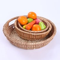 Wholesale Wood Craft Supply Wholesalers - practical pastoral wind home supplies vegetables and fruit basket willow branches woven crafts storage Box Wheat Bread Basket
