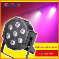 Wholesale Led Lighting Wash - Newest 7x12W 72w led stage light voice-control AC110-240V LED Flat SlimPar Quad Light 4in1 LED DJ Wash PAR LightS Uplighting No Noise