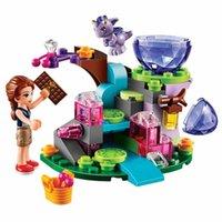 Wholesale Enlighten Girls - Wholesale- 83pcs set Friends Series Emily And Elve DIY Puzzle Building Blocks Enlighten Toy For Children Girls Gift