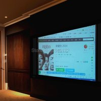 Wholesale Inch Black White PVC Fabric Matte Projector Projection Screen For Home Theater Movies Classroom Training