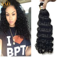 Wholesale curly micro braiding hair for sale - Group buy LY Micro mini Braiding Bulk Hair Deep Wave Human Braiding Hair Bulk No Weft Raw Bundles Cheap Braiding Hair