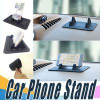 Wholesale Tablet Mat - Silicone Mobile Phone Holder Car Dashboard GPS Anti Slip Mat Desktop Stand Bracket For Phone Smartphone Tablet