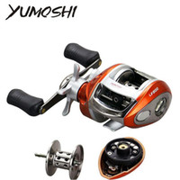 Wholesale coil reel - YUMOSHI Right or Left hand Baitcasting Reel 12+1BB 6.3:1 Bait Casting Fishing Reel Magnetic brake Water Drop Wheel Coil