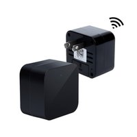 cargador de pared de ca al por mayor-Nuevo 1080P WIFI Mini Charger Camera Real Wall Adaptador de enchufe de CA Mini Camcorder Cámara de seguridad inalámbrica Nanny Cam para Android IOS Remote View