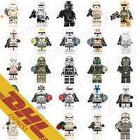 Wholesale Wholesale Star Wars Figures - 100pcs lot Star Wars Clone Trooper Figures Storm Trooper Stormtrooper Deathtrooper Shoretrooper Sandtrooper Mini Building Blocks Figures