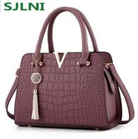Wholesale satchels hand bags - Fashion Alligator genuine leather women handbags famous designer brand bags Luxury Ladies Hand Bags And Purses Messenger shoulder bags