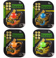Wholesale Kid Packaged Toys - 50PCS Hot Thumb Chucks Yoyo LED Light BEGLERI Flashing Finger Extreme Movement Plastic Juggling Ball Anti Stress Spinner Retail Package