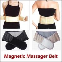 Wholesale Via Health - 600pcs Hot Magnetic Slimming Massager Belt Lower Back Support Waist Lumbar Brace Belt Strap Backache Pain Relief Health Care Via DHL