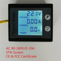 PEACEFAIR 360 ° degree Digital Single Phase AC 80-260V / 0-10A 4IN1 corriente de tensión de energía de potencia Watt Voltmeter Ammeter Panel Meter
