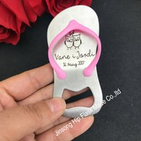 Wholesale Personalized Bottle Openers Wedding Favors - 50 pcs Personalized pink or blue bottle opener of Guest gift of wedding favors and gifts Birthday gift