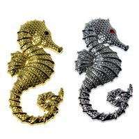 Wholesale Automobile Supply - Cars solid metal post body car stickers seahorses automobile supplies automotive body posts car wrap wholesale