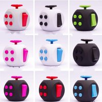 Wholesale Dice Funny - New Anti Anxiety Finger Toys ADHD Autism Fidget Cube Plastic Cubes Funny Dices Every Day Carry High Quality 20ny A
