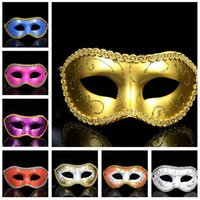 Wholesale Hot sale Ballroom Fashion Blonde Blonde Surrounded Mask Halloween Carnival Mask PH055 mix order as your needs