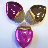 Wholesale Heart Tails - Plating Mermaid Fish Tail Heart Makeup Brush Set Foundation Powder Eyeshadow Make up Brushes Contour Blending Cosmetic Brushes New 3001043