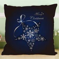 Wholesale Snowflake Cushions - 2017 New Arrivals snowflake Pattern Pillow case 45*45 Liene Cushion Covers For Car Sofa Cushion Cover Throw Pillow Cushion Covers BZ66-2