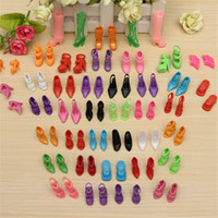 Girls Birth-12 months Accessories Wholesale 40 Pairs 80pcs Doll Shoes Fashion Cute Colorful Assorted shoes for Barbie Doll with Different styles Baby Toy