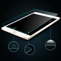 ipad clear schirmabdeckungen großhandel-2.5D 9H 0.26mm Härte-ausgeglichenes Glas-Schirm-Schutz für iPad Luft 2/3/4 iPad Mini mit dem Kleinverpacken