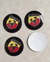 Wholesale Emblem Abarth - High Quality 56.5mm Aluminum alloy Sticker emblem badge FIAT Abarth for Car Wheel centre cover