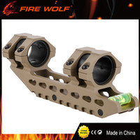 Wholesale Mount Rifle Rail - FIRE WOLF 30  25.4 mm Offset Picatinny Weaver Hunting Rifle Scope Rings Mount Bidirectional with Bubble Level Rail Mounts