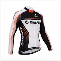 Wholesale Giant Cycling Jackets - 2017 Giant team Cycling Jersey Maillot Ciclismo long Sleeve Ropa Ciclismo Quick-Dry Race MTB Bike cycling clothing bicycle Jacket A1705