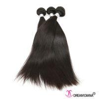 Wholesale Great Malaysian Hair - Brazilian Straight Hair Human Hair Weave Bundles 3Pcs  Lot Brazilian Peruvian Virgin Human Hair Natural Color Dyeable Great Quality
