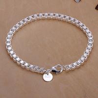 Wholesale popular box sets - CH172 XMAS Wholesale fine 925 sterling silver box bracelet bangle jewelry,new hot Popular Piercing 925 Silver Charm Bracelet for women 2017