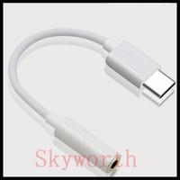 bayan iphone aux toptan satış-C tipi kulaklık adaptörü dönüştürücü kablosu 3.5mm aux ses dişi erkek konnektör adaptörleri hatları kablosu için LETV PRO iPhone 7 artı