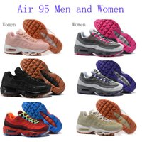 Wholesale Mens Comfort Shoes - 2017 New Mens sports 95 Running Shoes,Comfort Fashion mens athletic Walking training sporting shoes sneakers Classic Air Cush size 36-46
