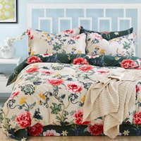 Wholesale Comforters Purple Green - 20 Styles Bed Sheet Luxury 3D Print Floral Bedding Sets Comforter Sets Queen Size Duvet Cover Bed Sheet King Size Bed Clothes