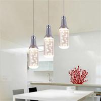 Wholesale Acrylic Ceiling Lamp Chandelier - Creative LED Pendant light popular art chandelier ceiling lighting lamp acrylic bottle pendant lamp restaurant led droplight dining room