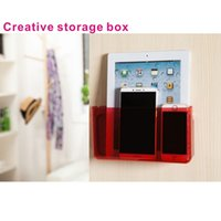 Wholesale Modern Kitchen Gadgets - 2 in 1 Creative Home Furnishing bathroom and kitchen gadget storage box hanging box,Mobile phone charging bracket,Bathroom included.