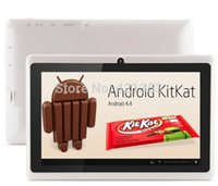 Wholesale Cheap Android Covers - Wholesale- 2015 New Cheap Tablet PC 7 inch Android 4.4 Q88 Allwinner A33 Quad Core Tablet PC Dual Camera Bluetooth WiFi,10pcs lot DHL Free