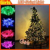 Wholesale String Lights Drop Shipping - HOT LED string Decoration Light 110V 220V 10M 100 LED lamp bulb For Party Wedding Christmas decoration Drop shipping