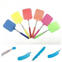 Wholesale Great Flying - High Quality Creative Great Useful Handheld Flexible household Mosquito swatter Racket Portable Plastic Fly Swatter Mosquito racket IA581