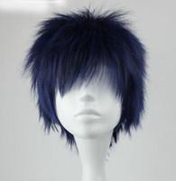 Wholesale Cosplay Aomine - Kuroko's Basketball Aomine Daiki Short cosplay wig Perruque wigs for women
