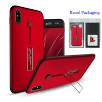 Wholesale Holder Rubber Case Iphone - For iPhone X Rubber Finger Holder Armor Case Metal Kickstand Portable Ring Cover for iPhone 8 7 Samsung Note8 S8 With Retail Packaging