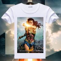 Wholesale Dc Comics Shirts - 2017 Hot Wonder Woman T Shirt Gal Gadot Print Short Sleeve T-shirts DC Comics Superhero Tops Casual Summer Clothes Tees