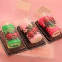 Wholesale Cherry Wedding Cake - 3PCs New Party HOT Cherry Cake Shape Towel Cotton Washcloth Wedding Gifts K532