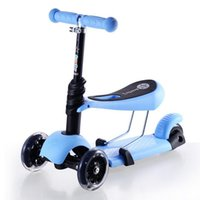 Wholesale Gold Hands New Design Kids Removable Kick Scooter Lightweight Safety Adjustable Height Tricycle With Seat For Children Pedal Scooter